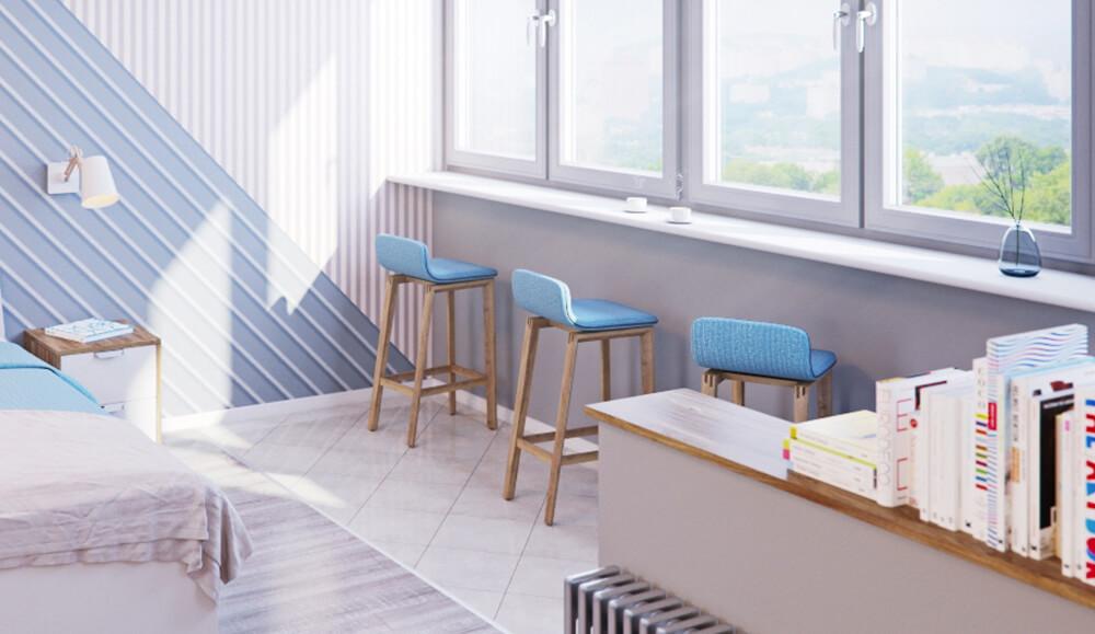 дизайн совмещенного балкона